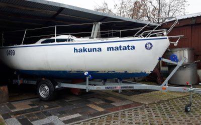 LS 6019 wzmacniana rama  i oś  łódź 6m